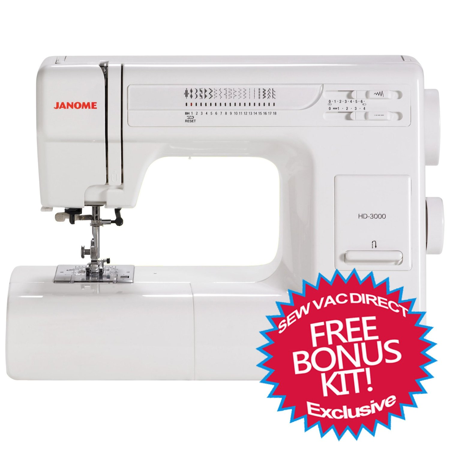 Best industrial sewing machines reviews 2016 best sewing for Janome hd3000